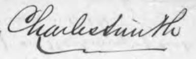 Charles SMITH, malt and hop merchant, 1870 signature.