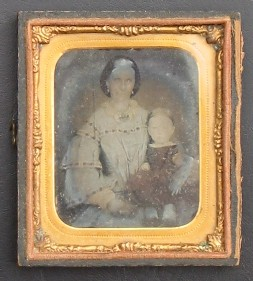 Mary Ann Morrish (nee Hamence) and baby daughter Eva about 1863